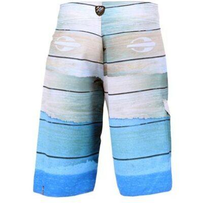 Boardshort heren Woods blauw-back-min