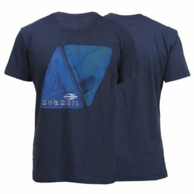 heren XL tshirt-blauw- Mormaiii