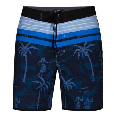 hurley boardshort aloha twist blauw