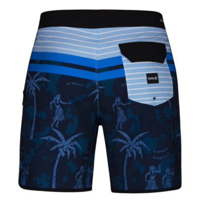 hurley boardshort aloha twist blauw achter